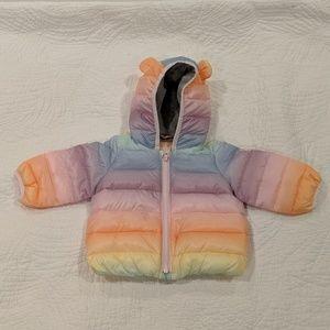 Baby Gap rainbow puffer coat